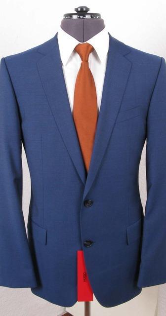 hugo boss anzug amaro heise mit mohair strahlend blau slim fit 50 neu ebay. Black Bedroom Furniture Sets. Home Design Ideas