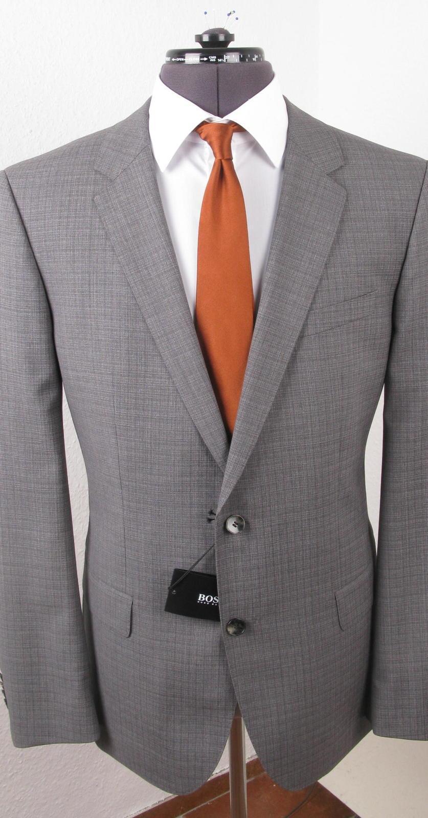 newest ec246 66bde Hugo Boss: Anzug Huge3/Genius2 Super 110 grau slim fit [neu ...